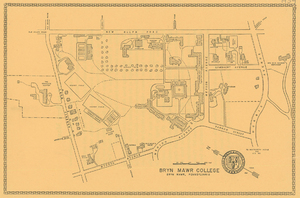 A map of Bryn Mawr's campus